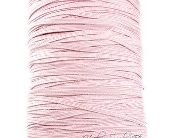 Light Pink Skinny Elastic - Choose 1-20 yards - 1/8 inch for Baby Headbands - Hairbow Supplies, Etc.