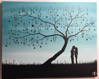 The tree of love- 16 x 20 acrylic on canvas , ready to hang, by Michael H. Prosper