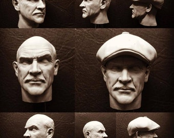 One of a Kind Sean Connery Chicago Cop head 1/6th scale