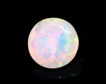 55% ON SALE Ethiopian Opal, Faceted Opal, Cut Stone, Faceted Round Cabochon, Fire Opal, 0.20CTW, 5mm  - O/340
