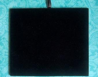 3 Black Velvet Jewelers Pads for Display, New & Unused. SALE Lot