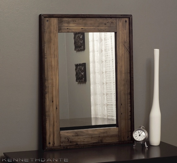 Luxury Rustic Mirror Made From Reclaimed Pallet Wood