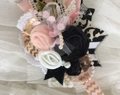 Bonjour french collection by cozette couture headband or clip handmade flower
