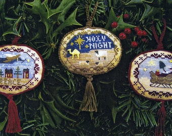 Majestic Christmas II ~ Sampler Border Ovals ~ Cross Stitch Patterns
