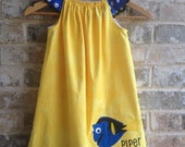 Dory inspired flutter sleeve dress