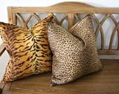 Cheetah Pillow Cover, Designer, Decorative, Square 20 inch, Cotton Pillow cover