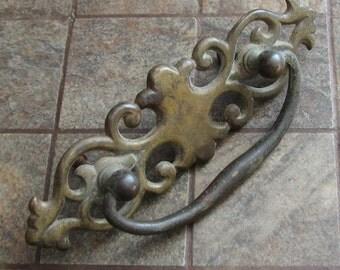 Vintage Large Drawer Pull Cabinet Handle Brass