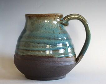 LARGE Coffee Mug, 25 oz, unique coffee mug, handmade ceramic cup, handthrown mug, stoneware mug, wheel thrown pottery mug, ceramics