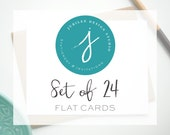 Upgrade to a Set of 24 Flat Stationery Cards