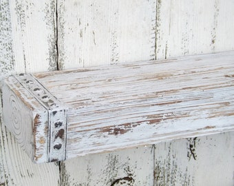 Rustic Wood Floating Shelf~Farmhouse Shelf ~Shabby Chic Shelf~Rustic Wood Wall Shelf