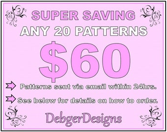 SUPER SAVING - Peyote beading patterns 20 for 60 Dollars