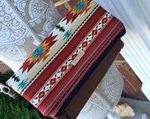 Fold Over Clutch Bag  -Navajo fabric Clutch - Formal Clutch - bag - Bag - Burlap wedding gift