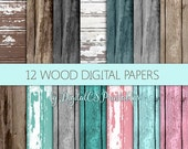 Wood digital paper wood Rustic digital paper rustic wood texture wood background Pink wood french cottage