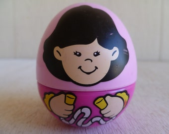 Hasbro Weebles Pink Girl  Rolly Polly Toddler Toy 1995