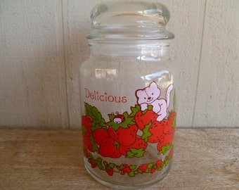 Strawberry Shortcake Jar with Lid Vintage
