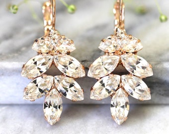 Bridal Earrings, Bridal Drop Earrings, Drop Earrings, Swarovski Drop Earrings, Bridesmaids Earrings, Bridal Crystal Drop Earrings