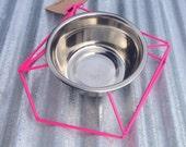 Chamfer Steel Wire Diner 1-quart Neon Pink