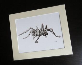 Print of Stephen, giclee print, horror art, horror print, fantasy art, monster art, monster print, black and white, gothic print, dark art
