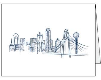 Dallas Skyline Folded Card