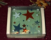 Patriotic Coasters - Glass - Thirstystone - Brand New!