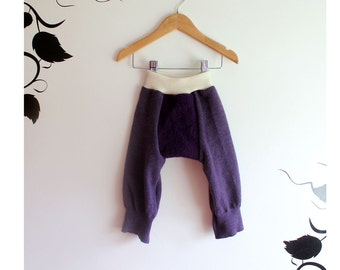 Wool Longies/wool diaper cover/ Long John's size Med