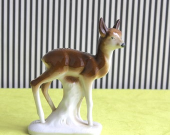 Vintage German Porcelain Fawn Figurine