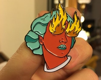 Enamel Pin: Fire Eye Girl