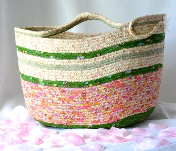 Fashion Tote Bag, Handmade Moses Basket, Shabby Chic Storage Organizer, Beach Tote Bag, Picnic Basket, Gift Basket