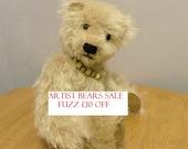 Artist Bear - Mohair Bear - Collectors Bear - 12 inch Bear - Made for Pud Bears - Fuzz