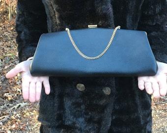 Vintage Black purse clutch handbag clutch