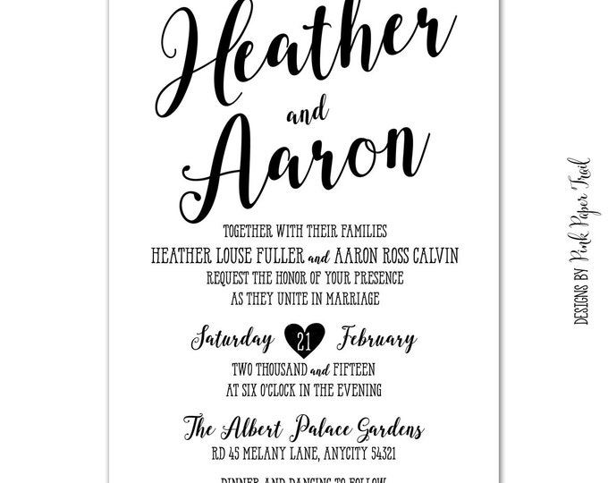 photograph regarding Ross Printable Coupon known as Printable Rustic Wedding ceremony Invitation Suite v.2, Chalkboard, Kraft, 4computers. Fastened, Calligraphy Style and design, I will customise for on your own