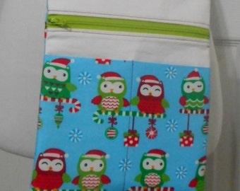 Christmas Purse, Birds, Holiday Purse, Crossbody Purse, Crossover Bag, Small Day Purse, Runaround Bag, Hipster, E-reader Case, Ready to Ship