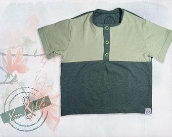 Polo Shirt Baby Organic cotton green short sleeve