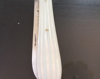 Etched Mother of Pearl and Sterling Silver Apple Knife c 1895