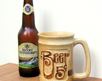 Vintage Pottery Craft Stoneware Beer Mug