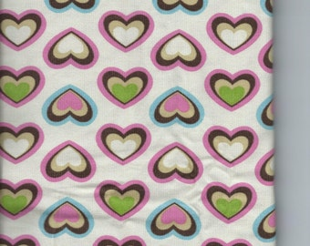 100% Cotton Corduroy Fabric With Heart Pattern