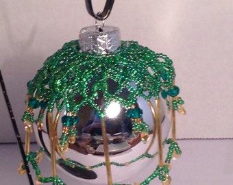 Long gold bugles ornament