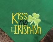 Kiss Me, I'm Irish-ish St. Patrick's Day Dog Bandana