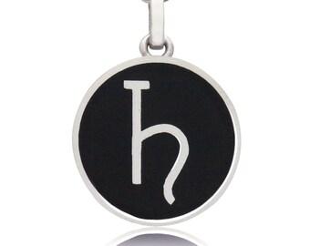 Sterling Silver Saturn Pendant