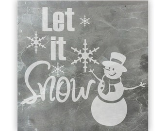 Tile - Large Slate 12in - 13866 Let is Snow