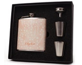 Flask for Women, 6 oz Liquor Flask, Rosemary Design Gift Flask