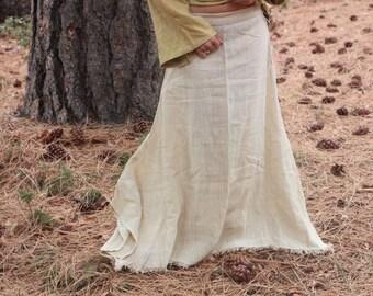 Hemp Fabric Bell Skirt ~
