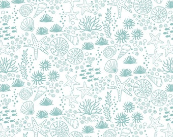 Seabed on White  A139-1 - Tales of the Sea - Lewis and Irene - By the Yard