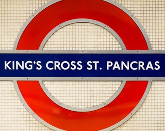 Piccadilly King's Cross St. Pancras Underground Tube Sign - Photograph