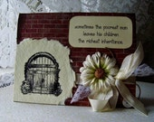 Homemade card, Charming Handmade friendship card, All Occasion card, Encouragement card, Verse card with gate
