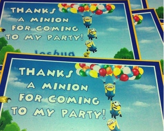 MINIONS DESPICABLE ME Birthday Party Favor Gift Tags