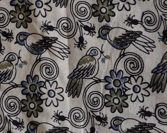 Kalamkari print,  Organic Indian summer cotton fabric  - One yard