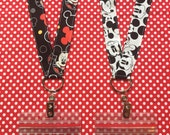 Disney Mickey Mouse lanyard Pin Collecting ticket holder