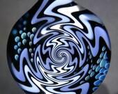 Boro Glass Lampwork Pendant Switchback WigWag Implosion Borosilicate Bead Collection