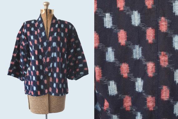 Indigo Kasuri Jacket Pink and Blue size S